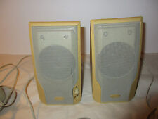 Advent Desk Top Computer Laptop Speakers Beige/Yellow Sound Good 6.25 x 4 x 3