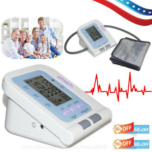 Blood Pressure Monitor Electronic Sphygmomanometer Pulse Heart Rate BP Monitor