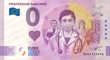 0 € ZERO EURO SOUVENIR BANCONOTA UFFICIALE ITALIA 2021 - PROFESSIONI SANITARIE