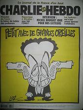 CHARLIE HEBDO 537 SARKOZY FLINGUEUR PAR LUZ MOUGEY HONORé WOLINSKI GéBé 2002