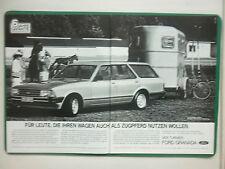 5/1982 PUB VOITURE FORD GRANADA L TURNIER VAN CAR WAGEN ORIGINAL GERMAN AD
