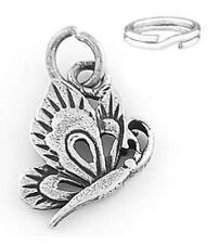 """SILVER  """"BUTTERFLY"""" CHARM/PENDANT WITH SPLIT RING"""