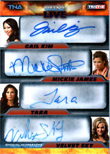 TNA Knockouts Quad Mickie James 2013 Impact LIVE BLUE Autograph Card SN 16 of 25
