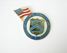 U.S. Flag Atf Lapel Pin Bureau Alcohol, Tobacco and Firearms with