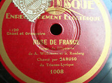 78 trs-rpm-CARUSO -Rose de France - PHOTODISQUE 1008