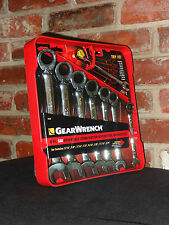 GearWrench 9533 8-Piece Reversible Ratcheting Combination Wrench Set - SAE