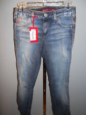 Nos Miss Sixty Mary J Low Rise Blue Jeans Bootcut Distressed Denim Retro 29x32