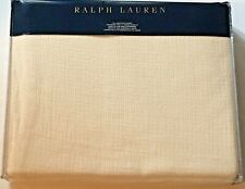 $228 Ralph Lauren Mulholland Drive Full/Queen Whitworth Bed Blanket - Cream