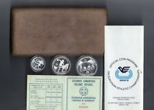 Greece-1982-Olympics-Mint-Box-Set-of-3-Silver-Coins-Proof