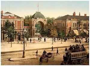 The Tivoli Gardens entrance Copenhagen Denmark ca. 1890
