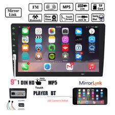 """9""""1DIN Touch pantalla coche radio Bluetooth MP4/MP5 reproductores Espejo enlace FM/USB"""