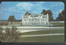 1950 BELMAR Resort Sign Entrance to Shark River Marine Basin New Jersey Postcard