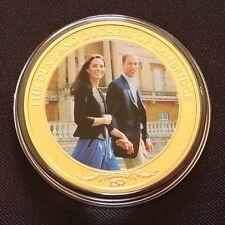 2012 islas Cook Moneda De $1 William Catherine Boda Real Chapado en Oro Certificado de autenticidad (P)