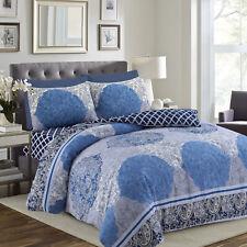 King Size Duvet / Quilt Cover Bedding Set 4 Piece Cotton Fitted Sheet Pillowcase