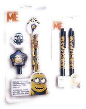 Minion Crayon à Papier/ Taille-Crayon/ Gomme à Effacer Despicable Me