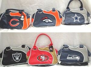 NFL Perfect Bowler Embroidered Two Tone Ladies Handbag Purse tote Bears Chargers