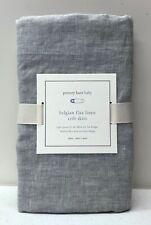 NEW Pottery Barn KIDS Belgian Flax Linen Mini (Small Space Crib) Crib Skirt~Gray