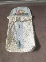Disney Classic Pooh Winnie Diaper Cloth Stack  Bag Red Calliope GUC