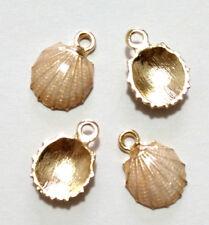 8pcs Shell Metal Charm Pendant Craft Jewelry Making Diy