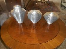 Set of 3 MCM Avedis Baghsarian Satellite Vases Aluminum Disk Rearrange To Shape