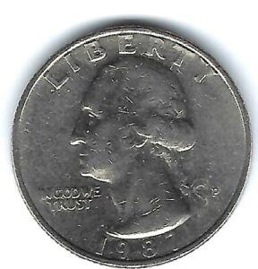 1987-P Philadelphia Nice Circulated Washington Quarters!