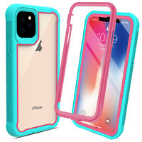 For iPhone 11 Pro Max 2019 Cyrstal Clear Armor Case Dual Layer Protective Cover