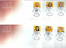 2008 Australian Gold Medallists set of 14 covers with matching postmark