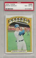 1972 TOPPS #686 STEVE GARVEY, PSA 8 NM-MT, LOS ANGELES DODGERS, L@@K !