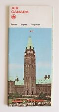 Vintage 1965 Air Canada Information Map Brochure in 3 Languages French German