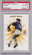 2001 SP Authentic Future Watch Ichiro Seattle Mariners RC Rookie 936/1250 PSA 10
