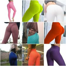 Mujer Push Up Leggings Yoga Pants Anti Celulitis Deportes Pantalones Fruncido Scrunch