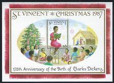 St Vincent - Beautiful Mnh 1987 Christmas Souvenir Sheet.M1.S 9120