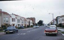 35mm Slide 1960 Cars Street Scene Volkswagen Buick Houses