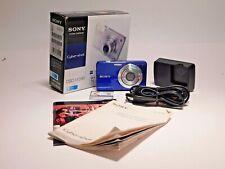 Sony Cyber-shot DSC- W560 14.1MP Camera Blue Carl Zeiss 4x Lens 3.0-inch LCD