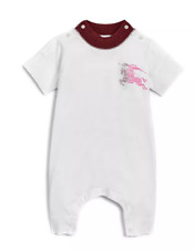 Burberry Baby Girl Randal Playsuit Bodysuit Outfit White Red Pink Sz 3 Month NWT