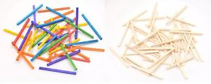 1,000 - Wooden Matchsticks - Mixed Colours or Natural - Arts &Crafts Modelling