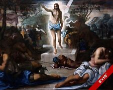 THE RESURRECTION OF JESUS CHRIST PAINTING CHRISTIAN BIBLE ART REAL CANVAS PRINT