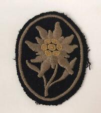 WW2 German Waffen SS Gebirgstruppen Edelweiss Cloth Uniform Insignia Badge Patch