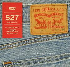 Levis 527 Jeans Mens New Slim Boot Cut Size 32 x 30 LIGHT BLUE Stretch Levi's