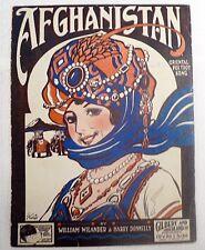 "Sheet Music "" Afghanistan "" Copyright 1920"