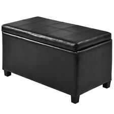 Large Storage Ottoman Living Room Furniture Foot Stool Rest Bench PU Leather