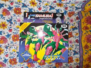 I 5 SAMURAI PUGNI D'ACCIAIO RASTA TAKARA/GIG 1992 in box,vintage!!!!