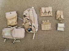 1/6 SCALE DESERT KIT POUCHES,SHOULDER BAG AND WATER SOURCE LOT.