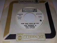 MAMAS & THE PAPAS For The Love Of Ivy /Strange Young Girls PROMO 45 Dunhill 4150
