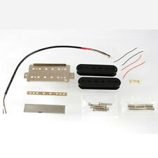 NEW - Bridge Humbucking Humbucker Pickup Kit ALNICO V Magnets - BLACK