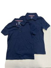 2 Pack French Toast Girls Navy Polo Shirt Size 7/8