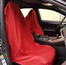 NEW Pair Throw Over Sport Red Slip On Seat Cover, EASY TO FIT, Free Shipping AU