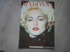 Madonna calendar 1992 43cm x 30cm published by Culture Shock