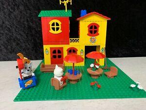Vintage Lego Fabuland No.3672 Motel 1982 Complete Catherine Cat, Monkey, Dr Dog