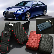High Quality leather 3 Button Remote Key Case Cover Holder For Lexus GS 2012-15